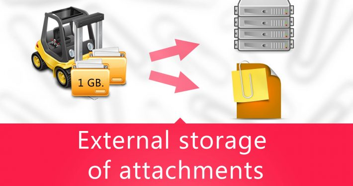 External storage of attachments in ClevaDesk system
